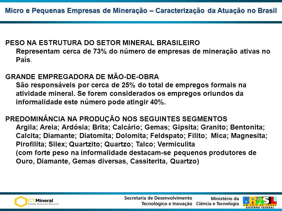 Micro e Pequenas Empresas de Mineração – Caracterização da Atuação no Brasil