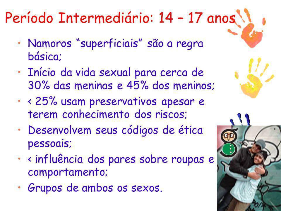 Período Intermediário: 14 – 17 anos