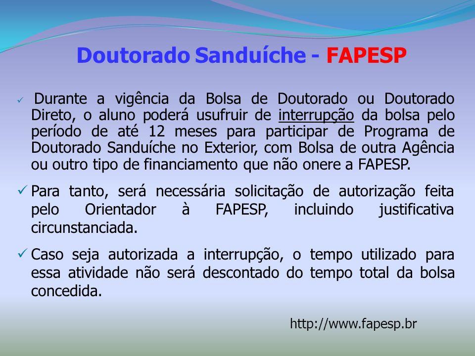 Doutorado Sanduíche - FAPESP