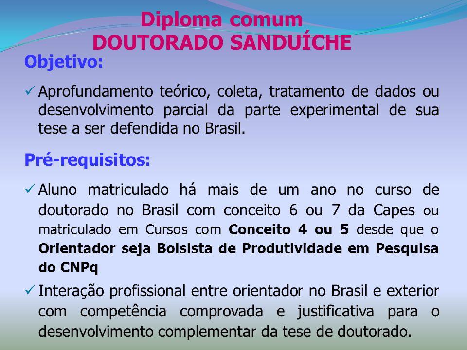 Diploma comum DOUTORADO SANDUÍCHE