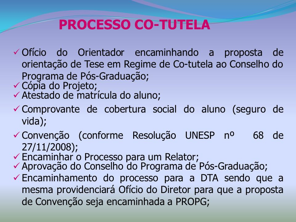 PROCESSO CO-TUTELA