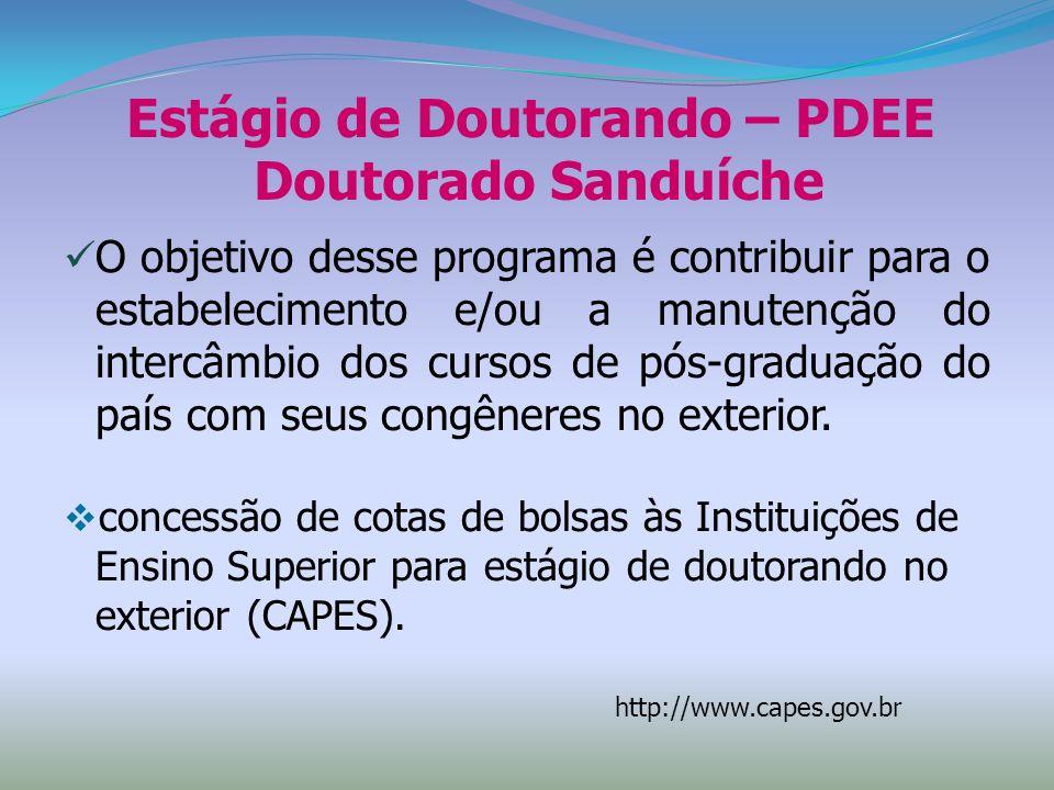 Estágio de Doutorando – PDEE Doutorado Sanduíche
