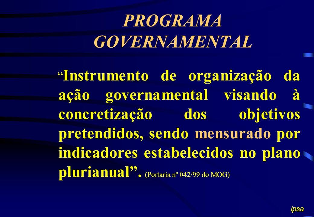 PROGRAMA GOVERNAMENTAL