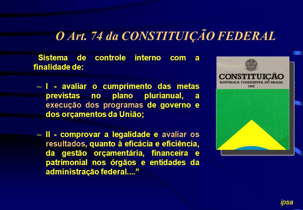 O Art. 74 da CONSTITUIÇÃO FEDERAL