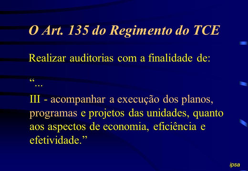 O Art. 135 do Regimento do TCE