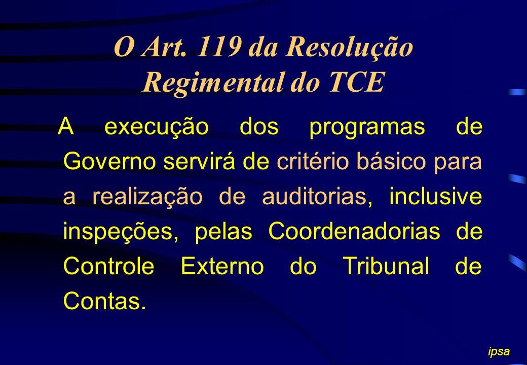 O Art. 119 da Resolução Regimental do TCE