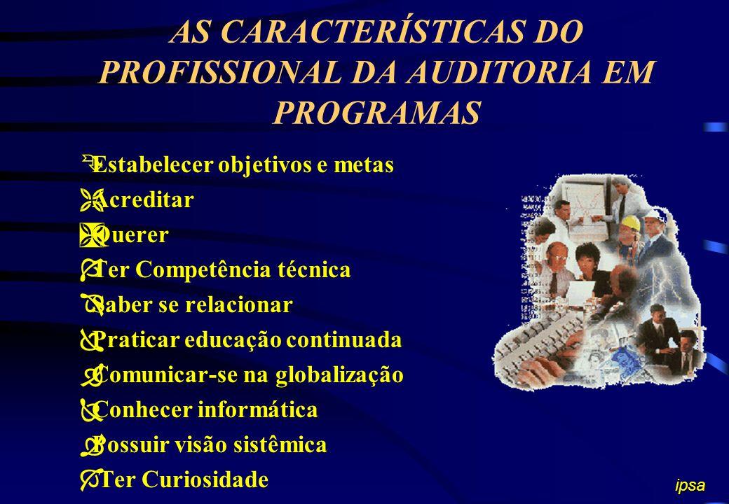 AS CARACTERÍSTICAS DO PROFISSIONAL DA AUDITORIA EM PROGRAMAS