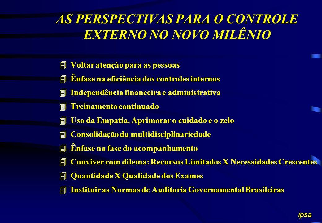 AS PERSPECTIVAS PARA O CONTROLE EXTERNO NO NOVO MILÊNIO