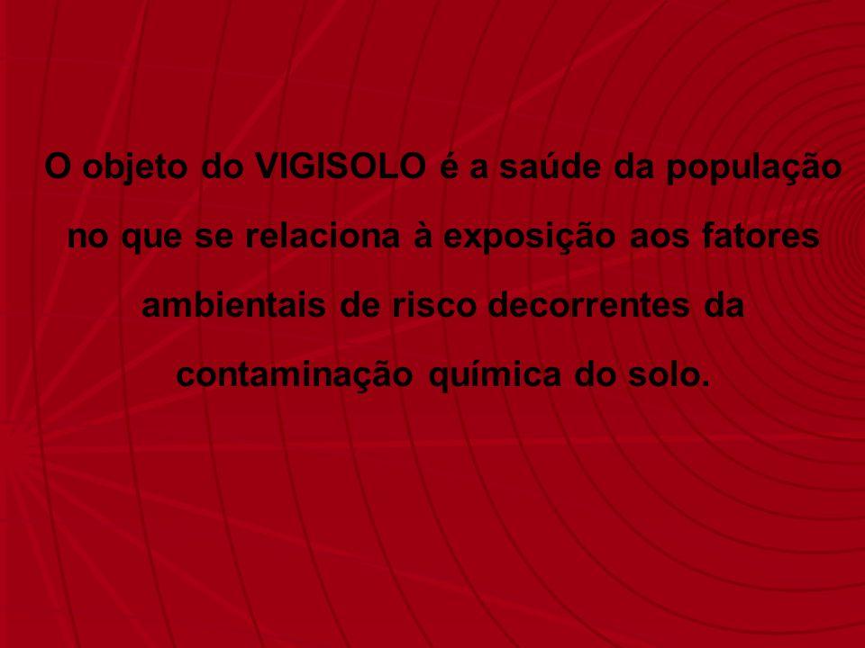O objeto do VIGISOLO é a saúde da população