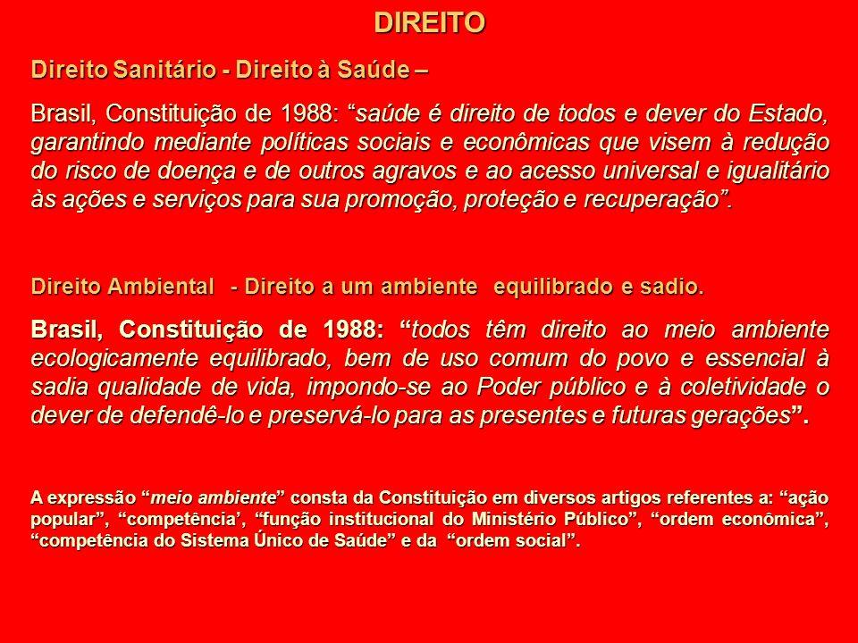 DIREITO Direito Sanitário - Direito à Saúde –