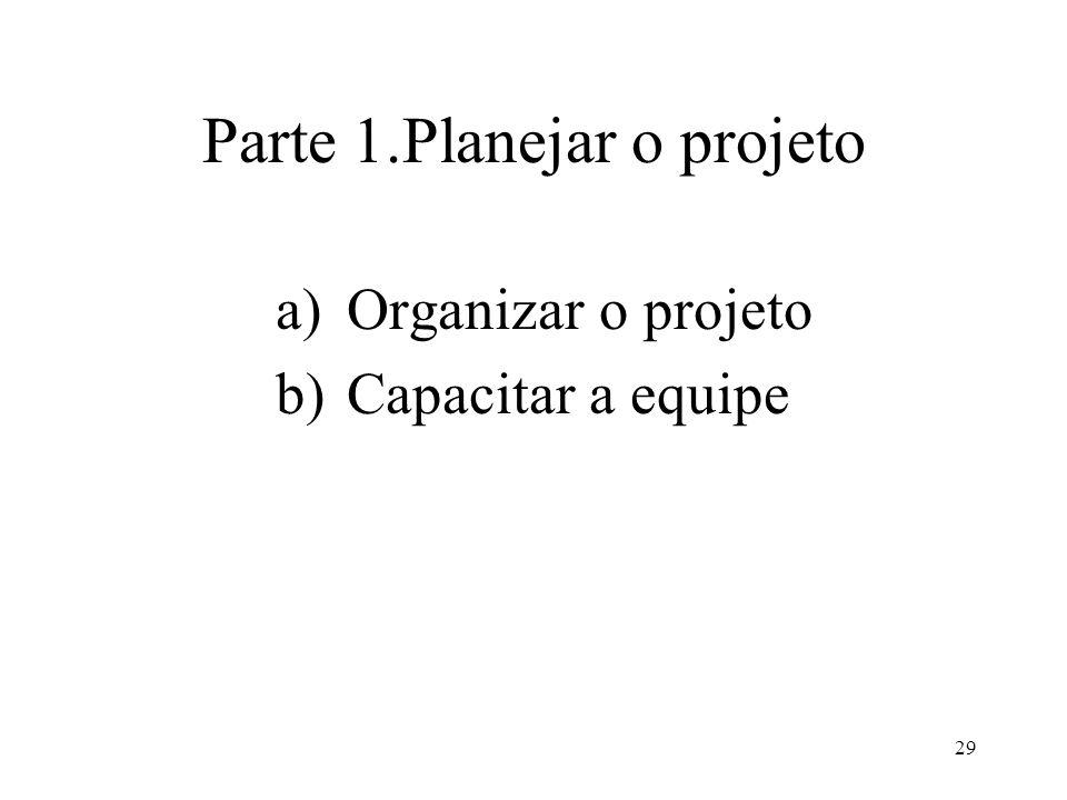 Parte 1.Planejar o projeto