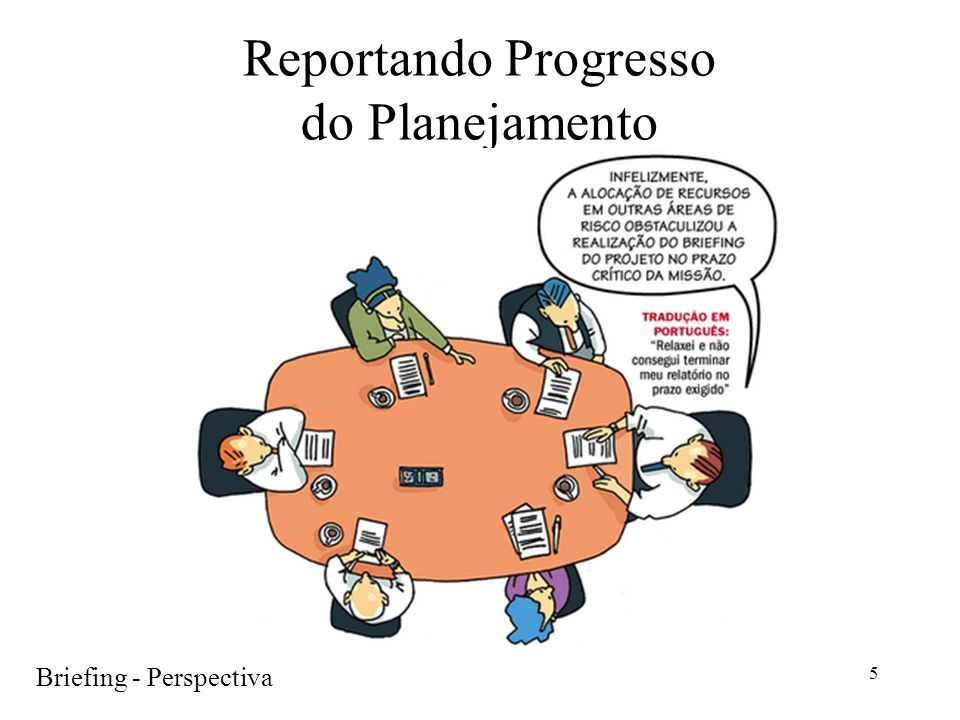 Reportando Progresso do Planejamento