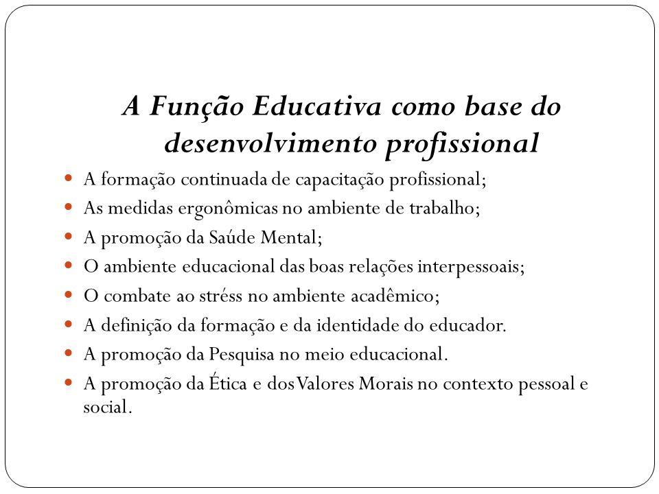 A Função Educativa como base do desenvolvimento profissional