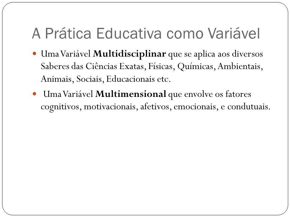 A Prática Educativa como Variável
