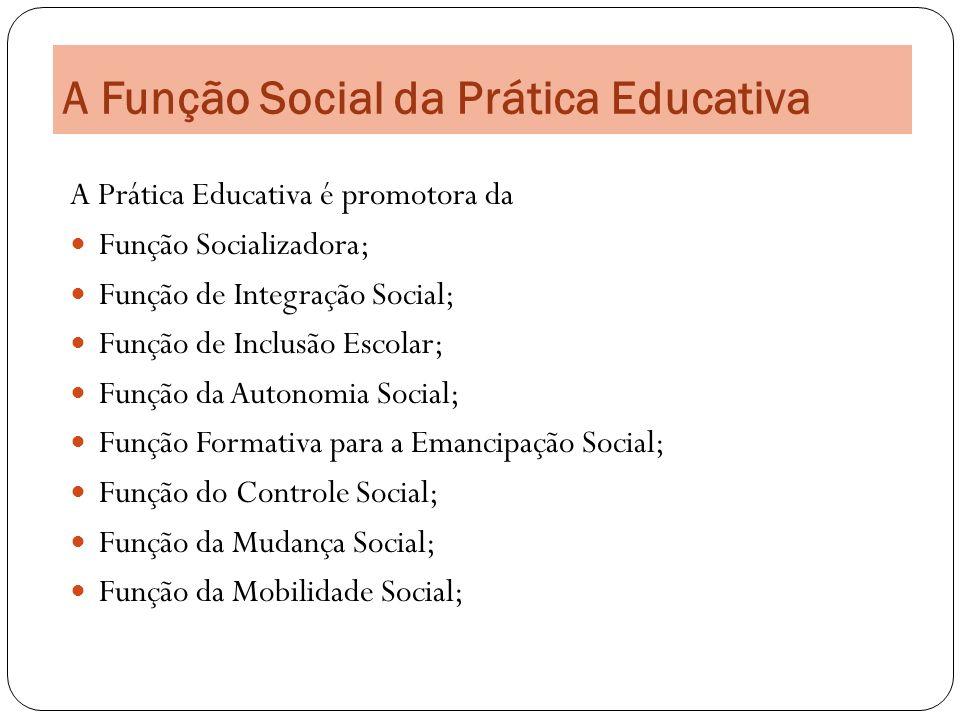 A Função Social da Prática Educativa