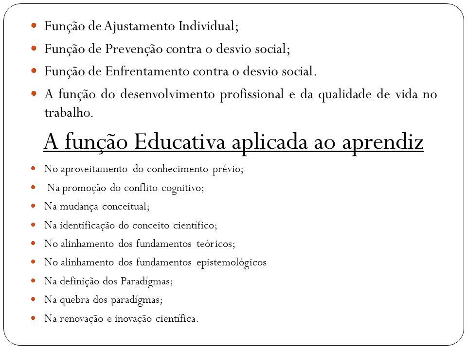 A função Educativa aplicada ao aprendiz