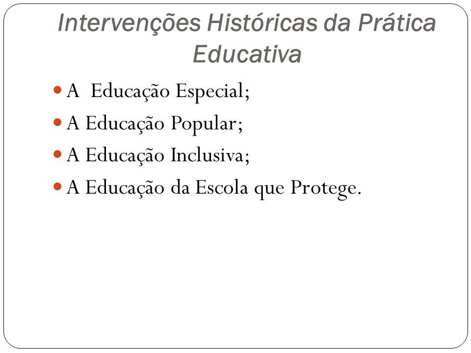 Intervenções Históricas da Prática Educativa