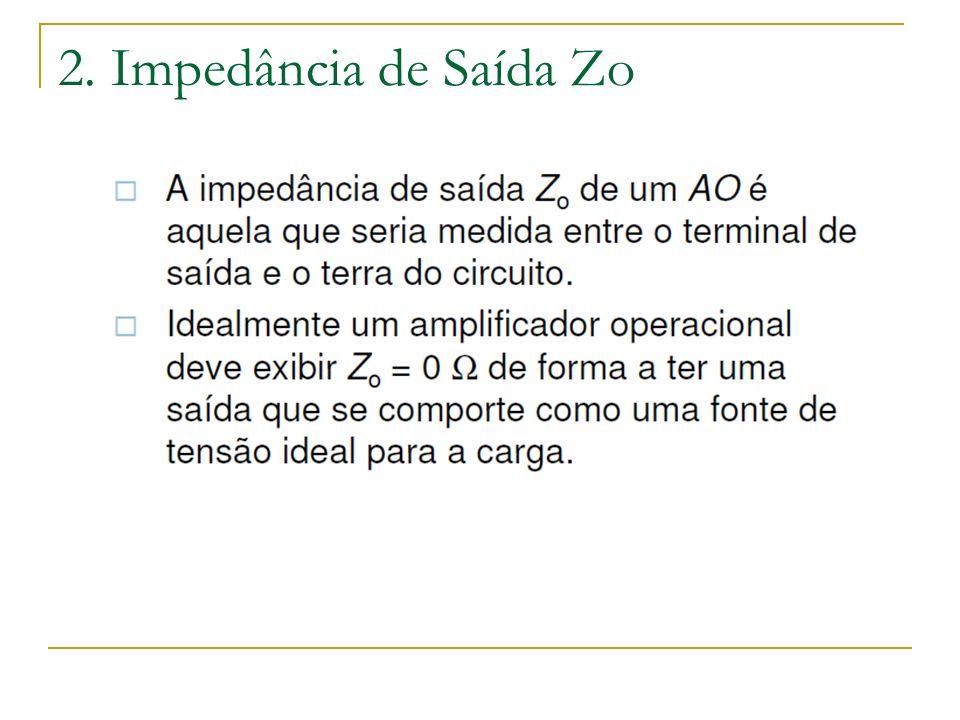 2. Impedância de Saída Zo