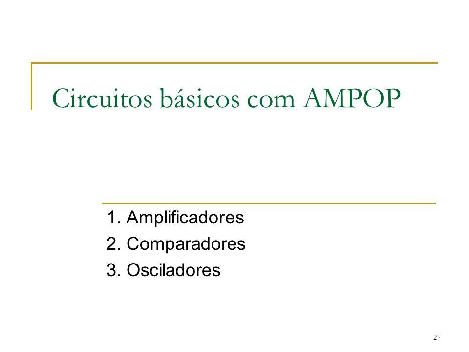 Circuitos básicos com AMPOP