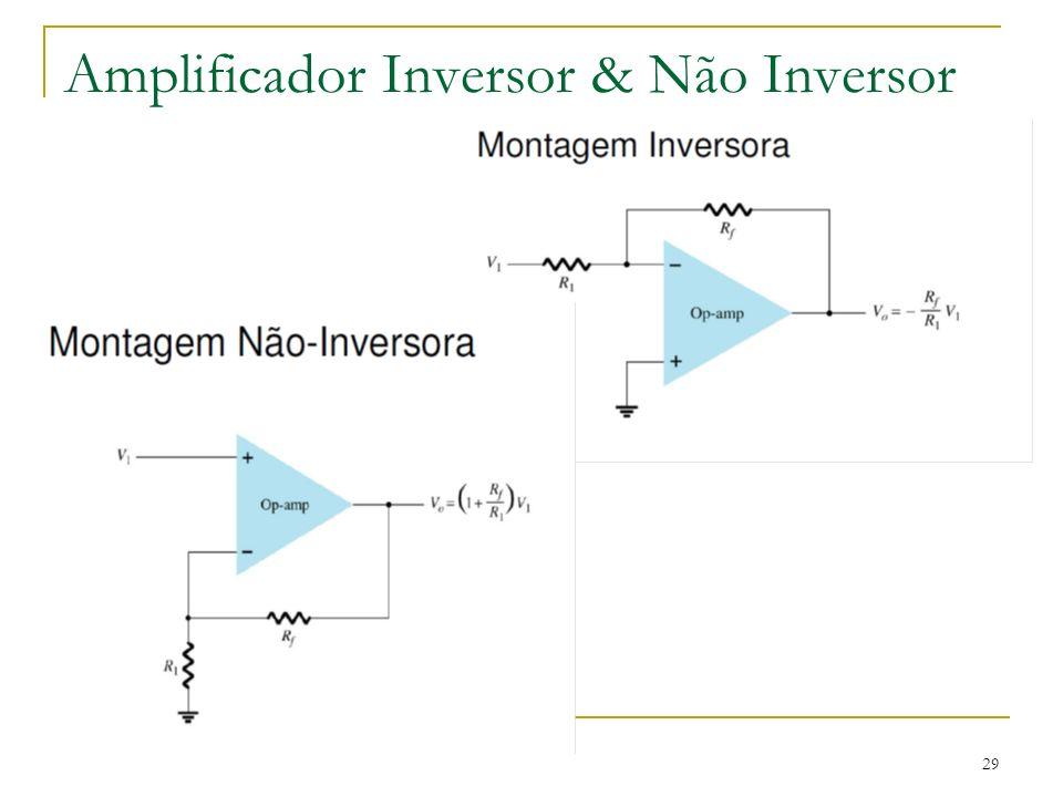Amplificador Inversor & Não Inversor