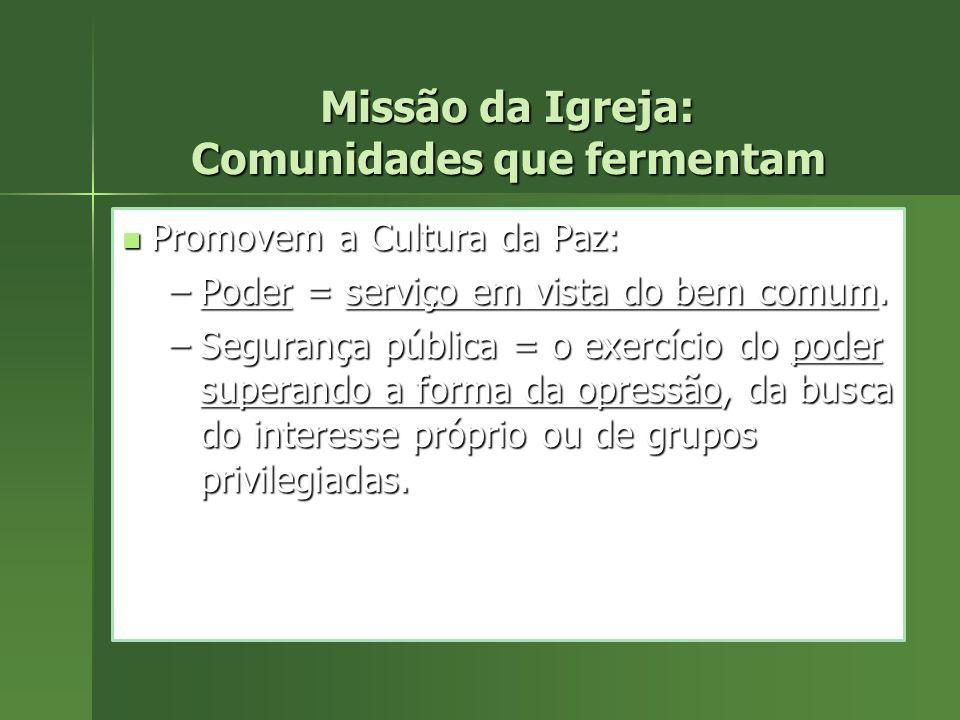 Missão da Igreja: Comunidades que fermentam
