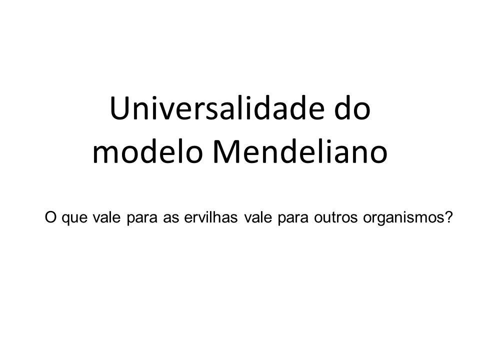 Universalidade do modelo Mendeliano