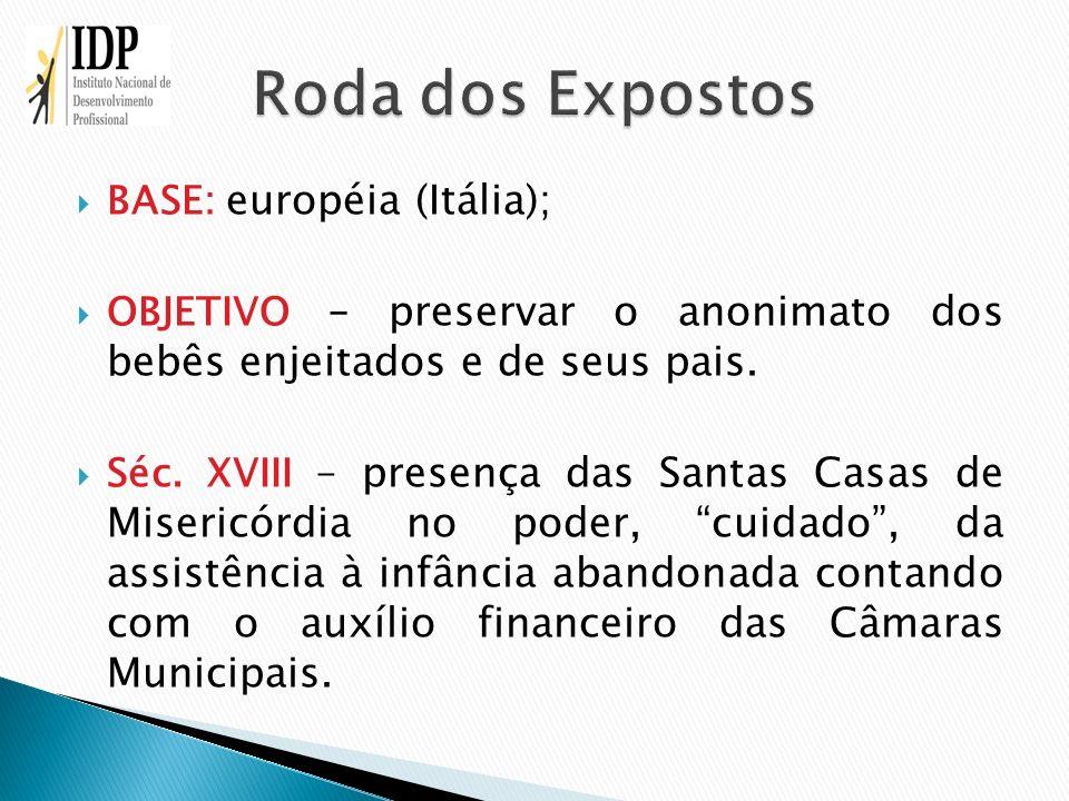 Roda dos Expostos BASE: européia (Itália);
