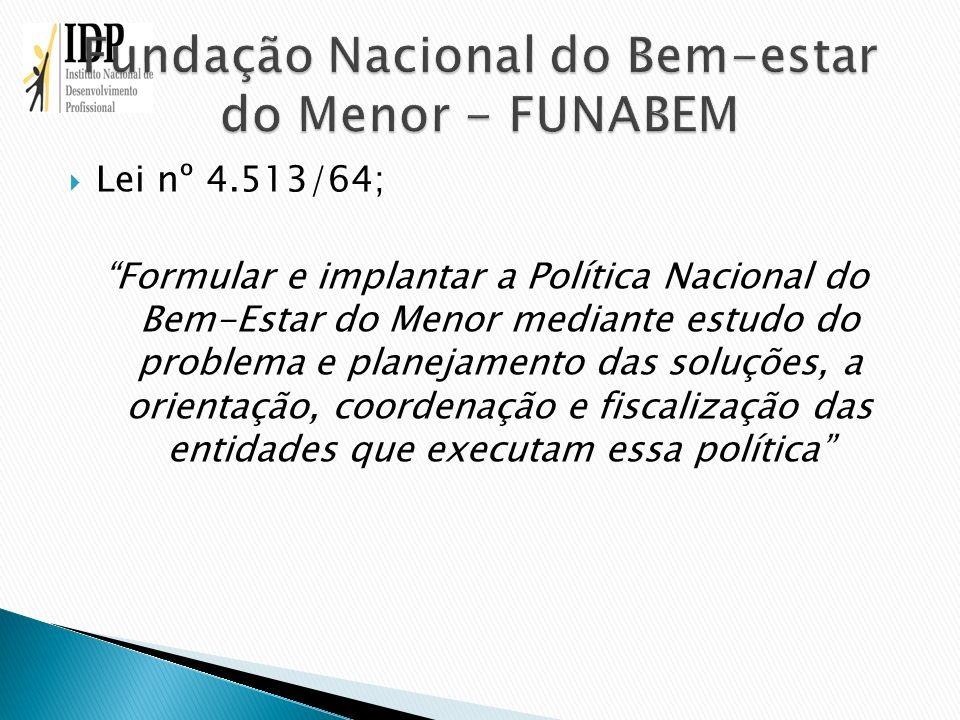 Fundação Nacional do Bem-estar do Menor - FUNABEM