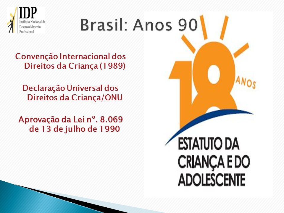 Brasil: Anos 90 Convenção Internacional dos Direitos da Criança (1989)