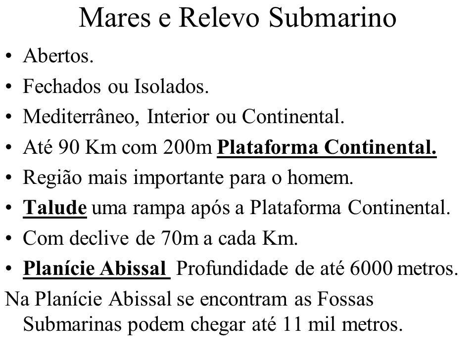 Mares e Relevo Submarino