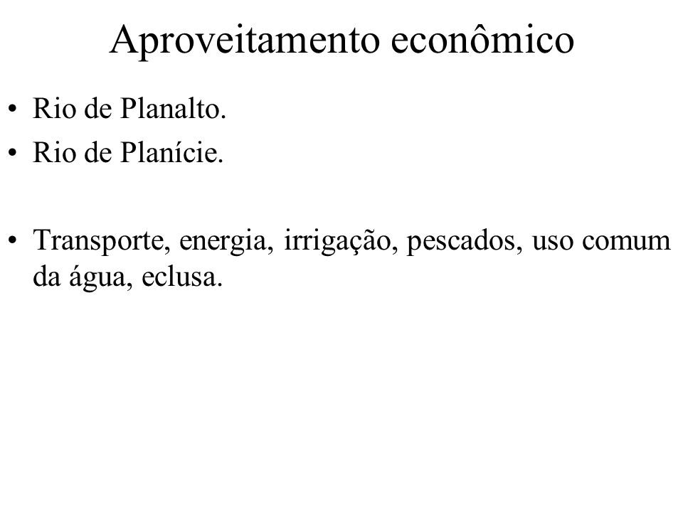 Aproveitamento econômico
