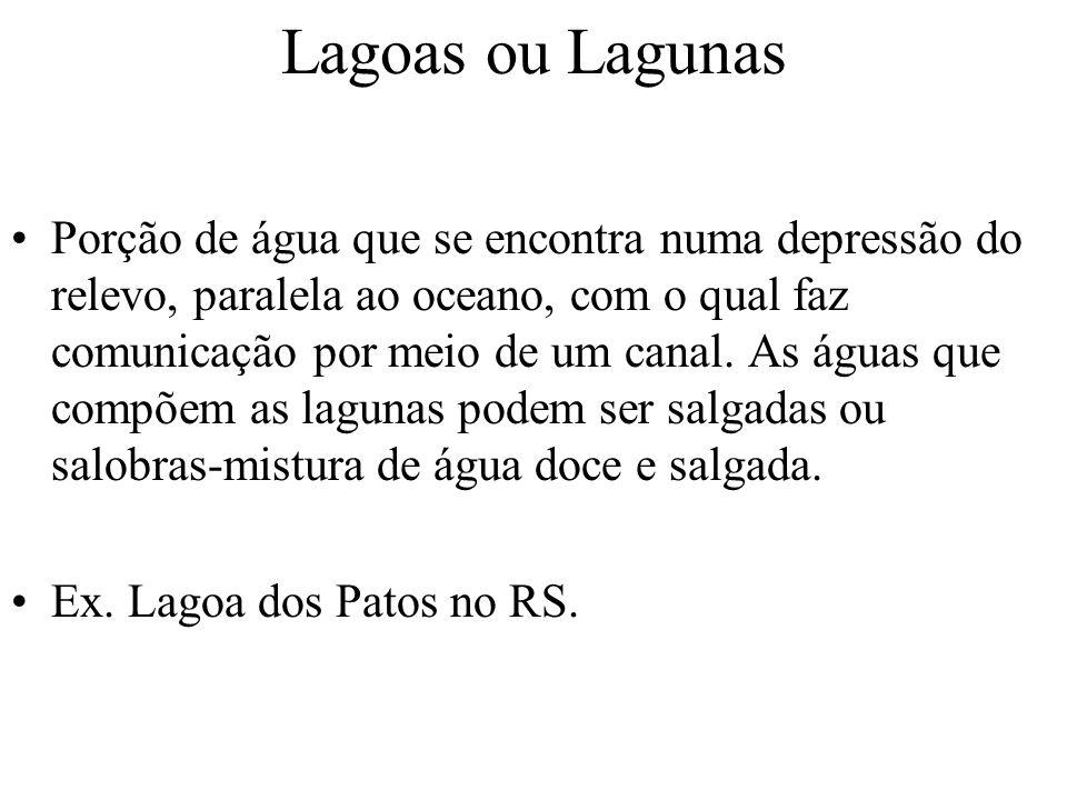 Lagoas ou Lagunas