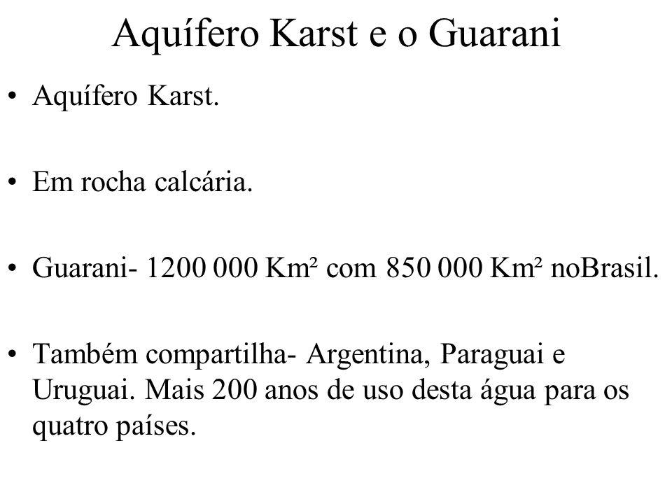 Aquífero Karst e o Guarani