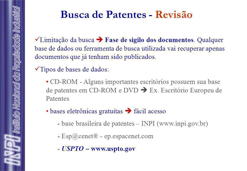 Busca de Patentes - Revisão