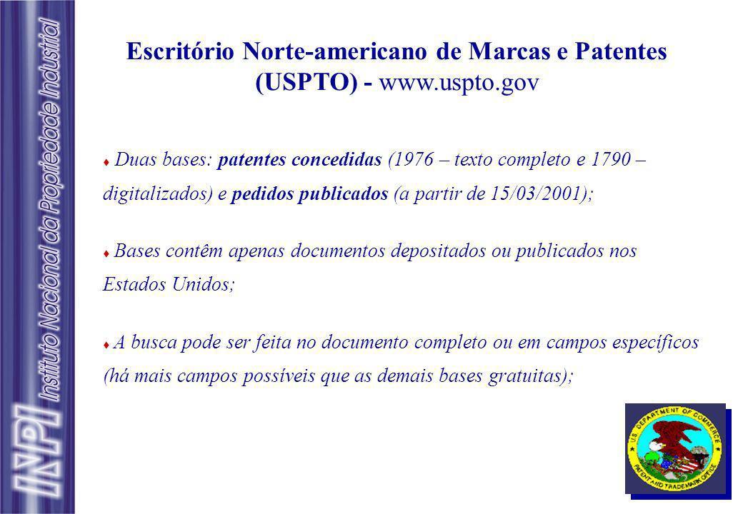 Escritório Norte-americano de Marcas e Patentes (USPTO) - www. uspto