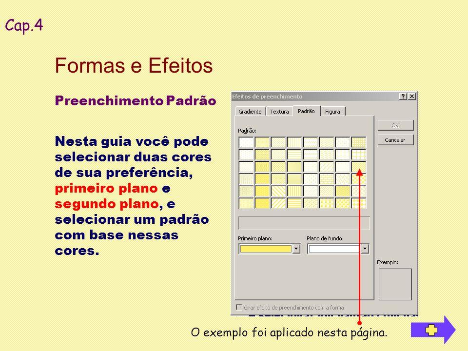 O exemplo foi aplicado nesta página.