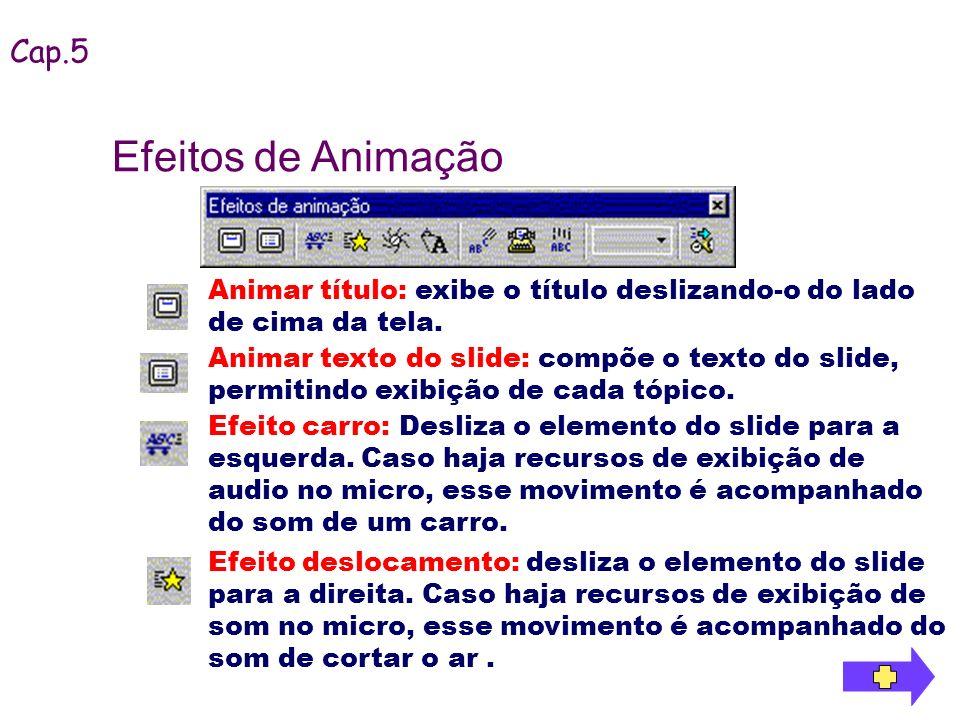 Efeitos de Animação Cap.5