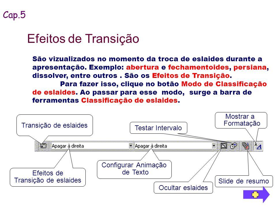 Efeitos de Transição Cap.5