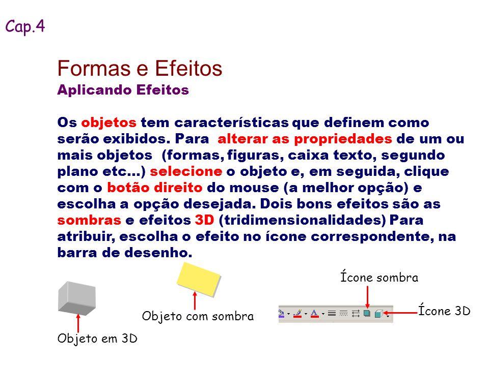Formas e Efeitos Cap.4 Aplicando Efeitos
