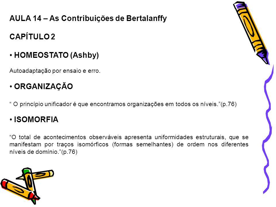 AULA 14 – As Contribuições de Bertalanffy CAPÍTULO 2