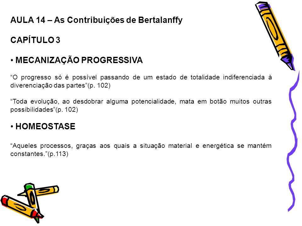 AULA 14 – As Contribuições de Bertalanffy CAPÍTULO 3