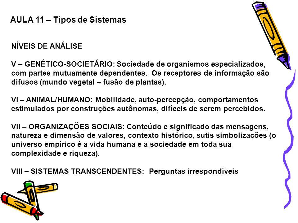 AULA 11 – Tipos de Sistemas