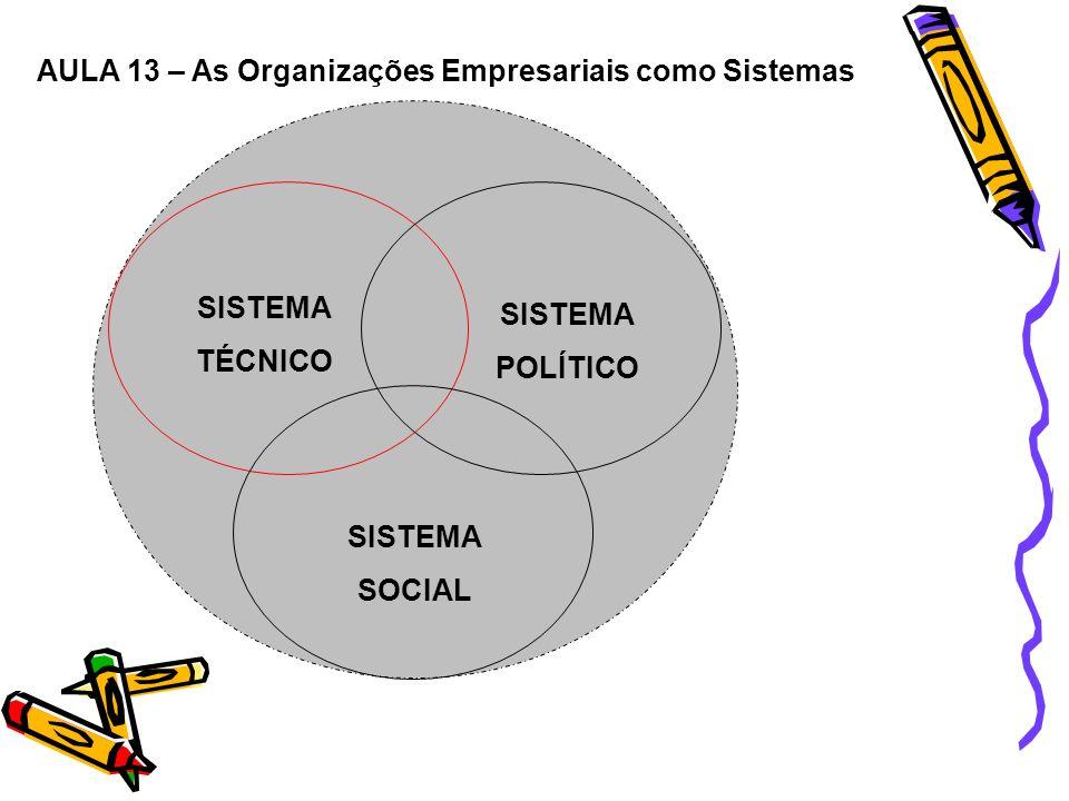 AULA 13 – As Organizações Empresariais como Sistemas