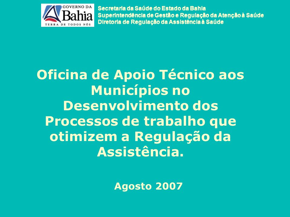 Secretaria da Saúde do Estado da Bahia