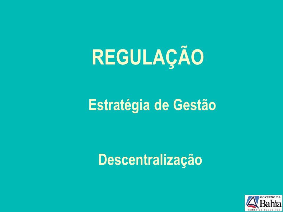 REGULAÇÃO Estratégia de Gestão Descentralização