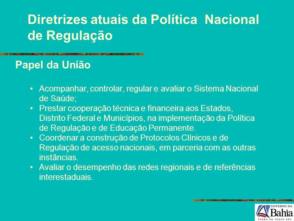 Diretrizes atuais da Política Nacional de Regulação