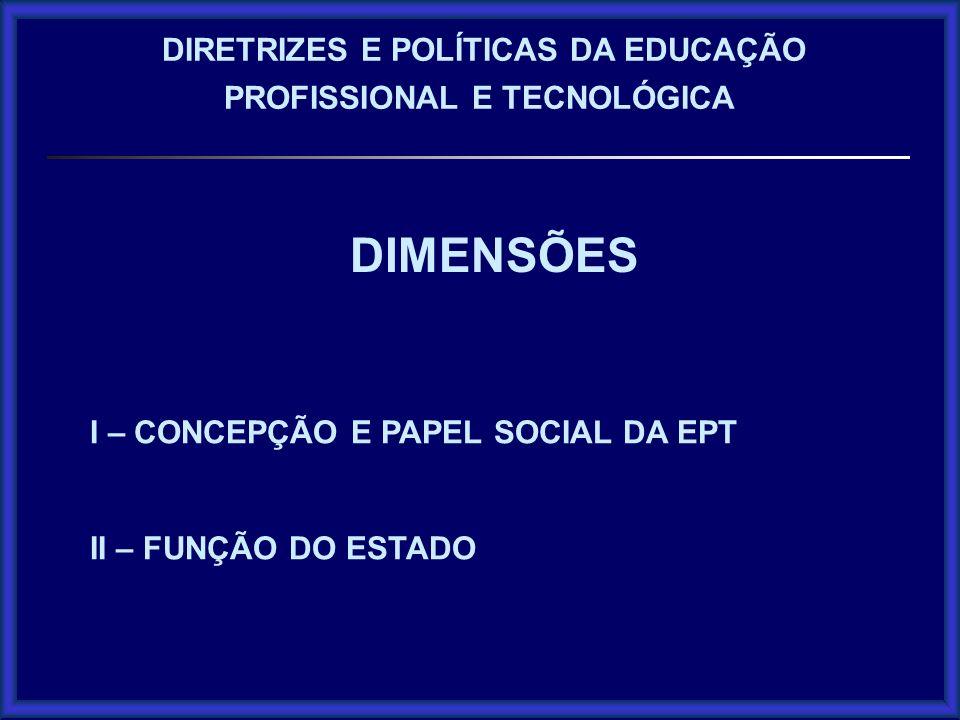 DIMENSÕES DIRETRIZES E POLÍTICAS DA EDUCAÇÃO