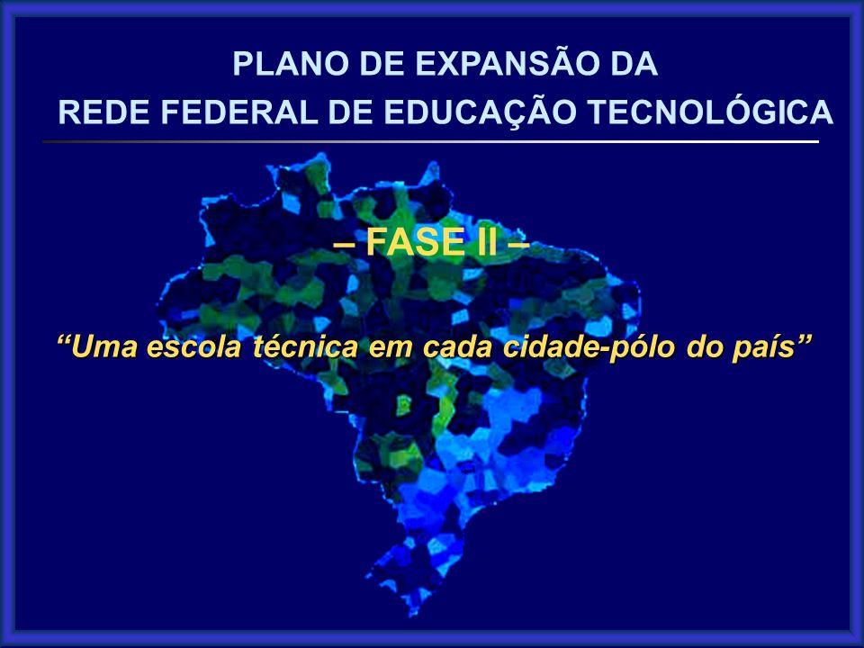 – FASE II – PLANO DE EXPANSÃO DA REDE FEDERAL DE EDUCAÇÃO TECNOLÓGICA
