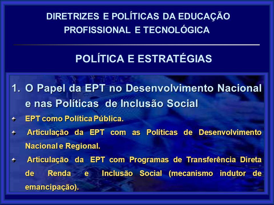 POLÍTICA E ESTRATÉGIAS