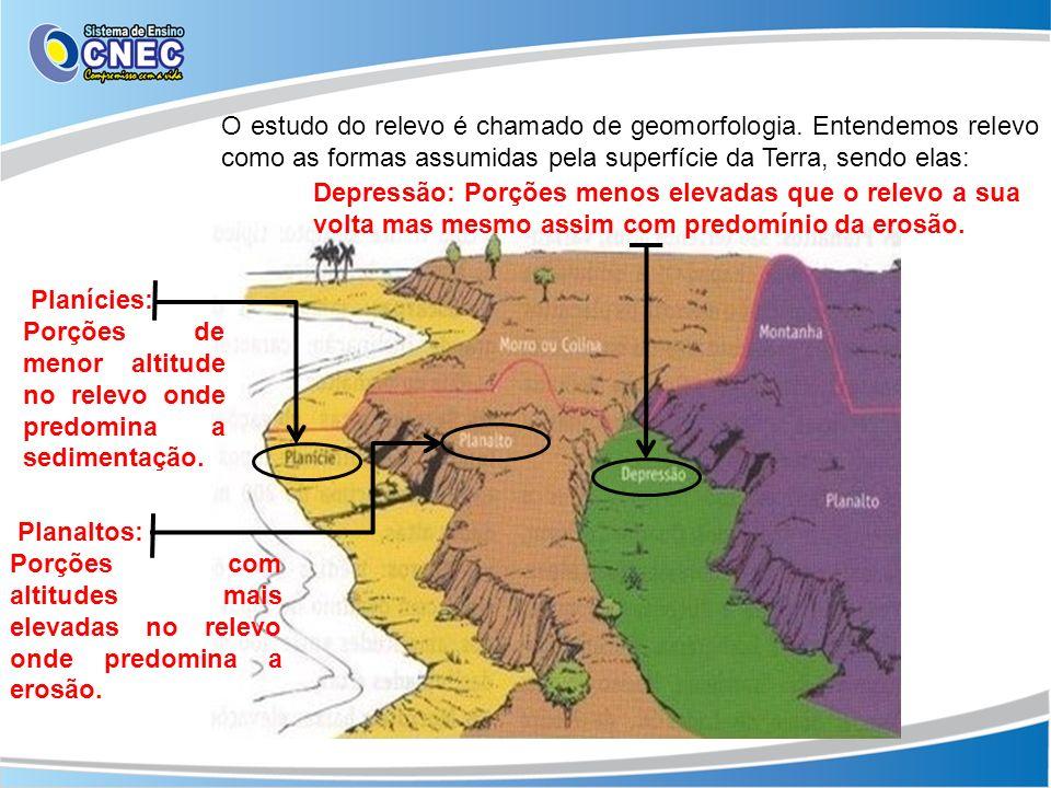 O estudo do relevo é chamado de geomorfologia